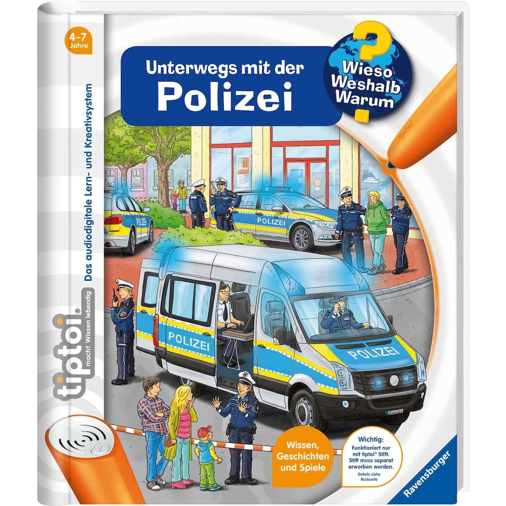 Ravensburger Buch »tiptoi® WWW - Unterwegs mit der Polizei«, Made in Europe