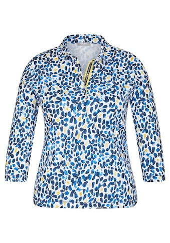 Rabe Print-Shirt, mit getupftem Muster und Druckknöpfen kaufen