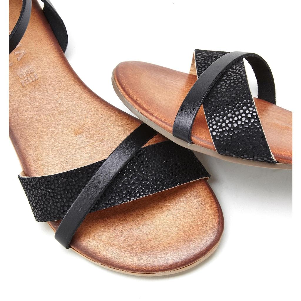 LASCANA Sandale, aus weichem Leder