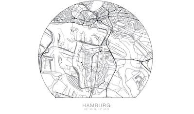 Wall-Art Wandtattoo »Hamburg Stadtplan entfernbar« kaufen