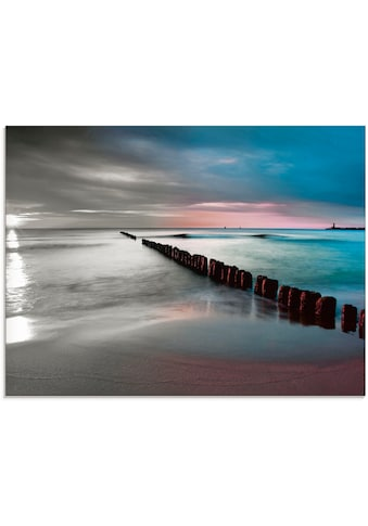 Artland Glasbild »Ostsee mit schönem Sonnenaufgang«, Gewässer, (1 St.) kaufen