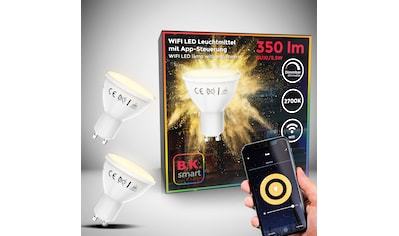 B.K.Licht LED-Leuchtmittel, GU10, 2 St., Warmweiß, Smart Home LED-Lampe RGB WiFi... kaufen