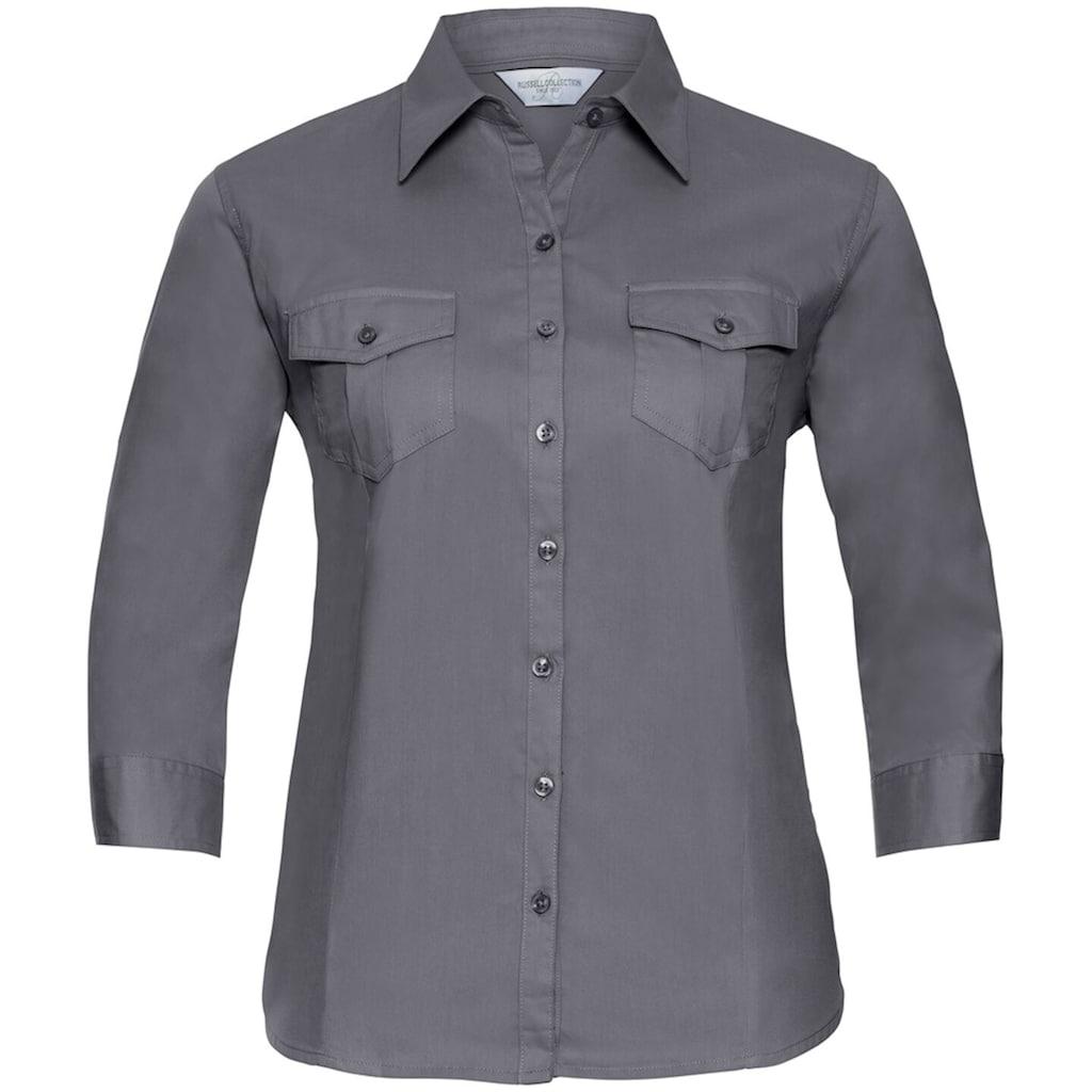 Russell 3/4-Arm-Shirt »Collection Damen Hemd / Bluse mit 3/4-Ärmeln«