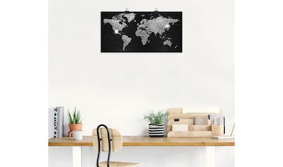 Artland Wandbild »Weltkarte Glitzer«, Land- & Weltkarten, (1 St.), in vielen Größen &... kaufen