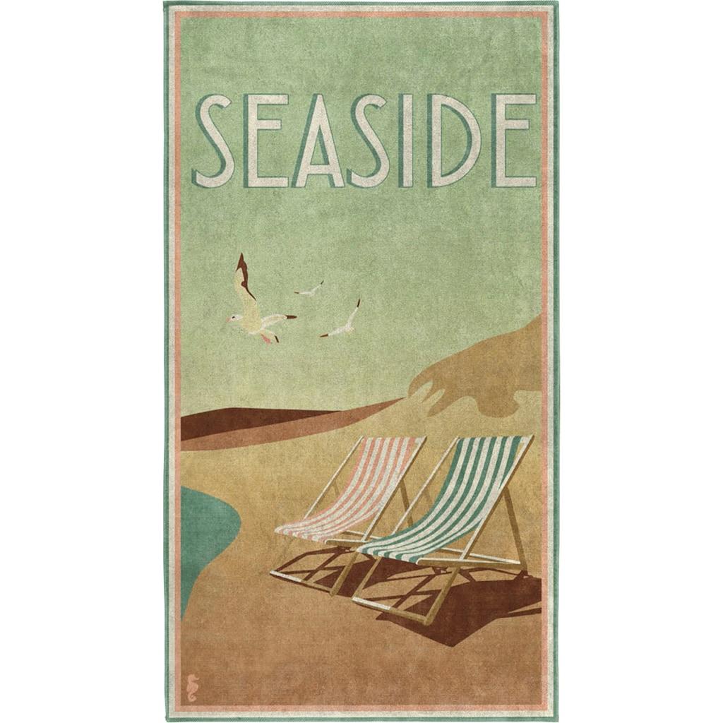 Seahorse Strandtuch »Blackpool«, (1 St.), mit Vintage Aufdruck