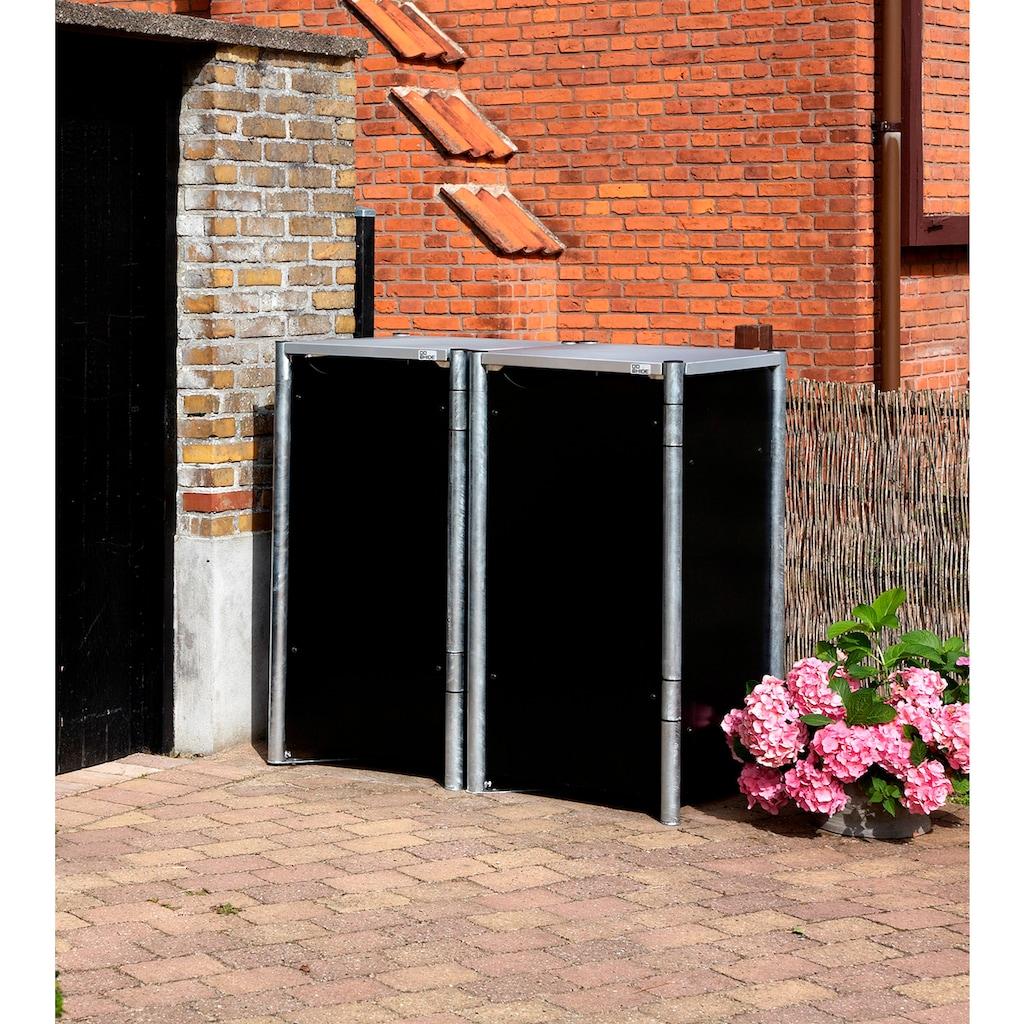 HIDE Mülltonnenbox für 2 x 120 l, schwarz