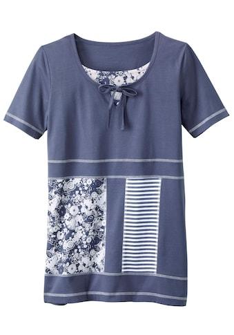 Classic Basics Shirttunika in Patchwork - Optik kaufen