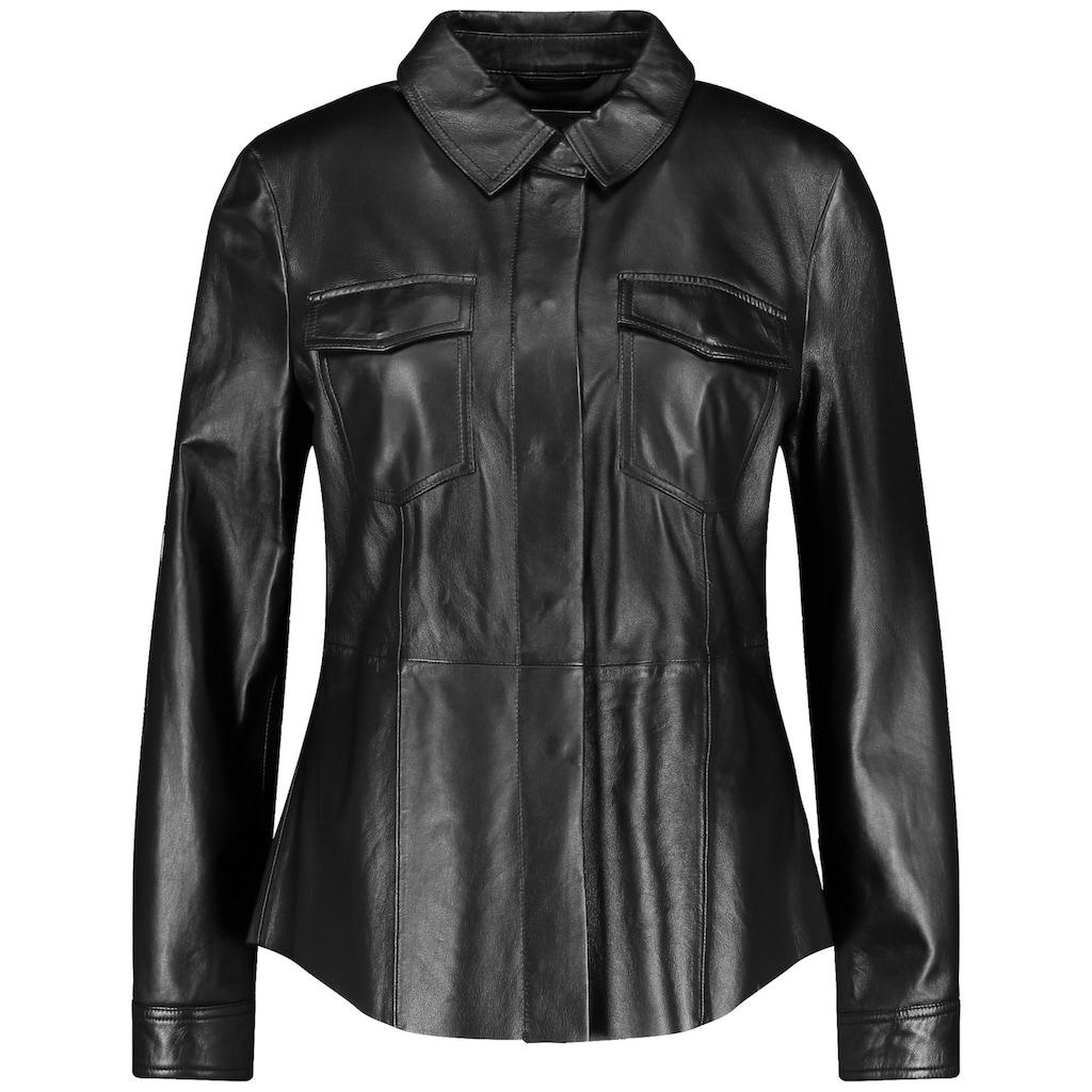 GERRY WEBER Lederjacke »Hemd aus echtem Leder«