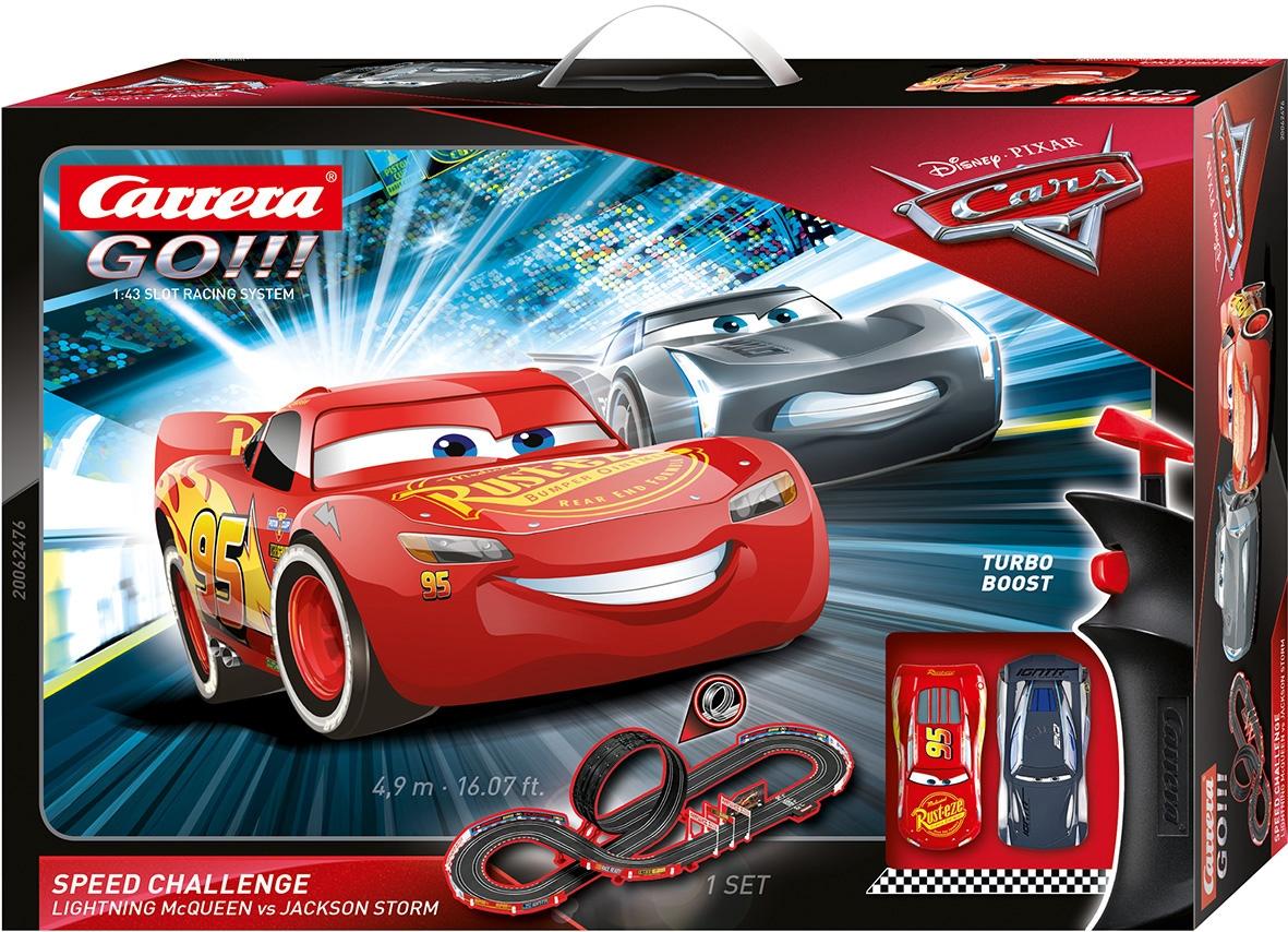 Carrera Autorennbahn GO - Disney·Pixar Cars Speed Challenge bunt Kinder Autorennbahnen Autos, Eisenbahn Modellbau