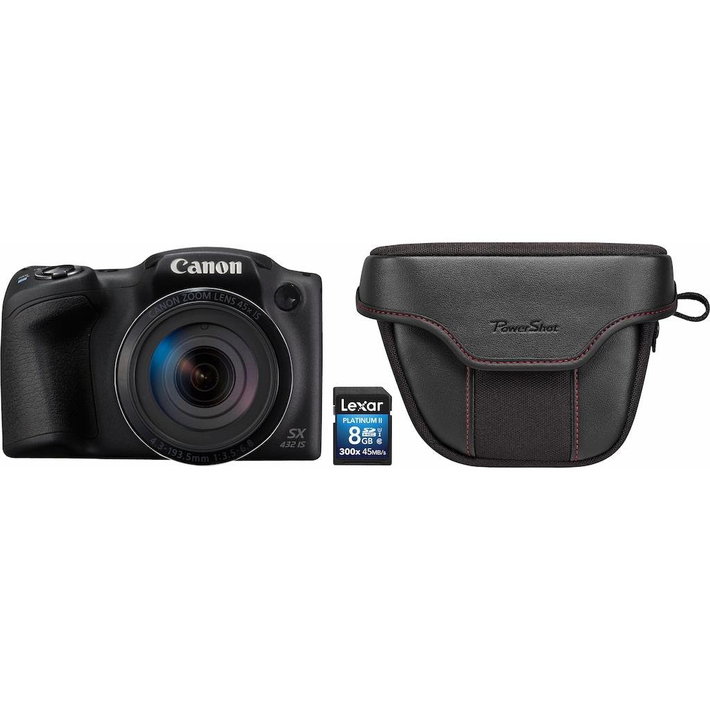 Canon Bridge-Kamera »PowerShot SX432 IS«, inkl. Canon-Tasche & 8 GB Speicherkarte