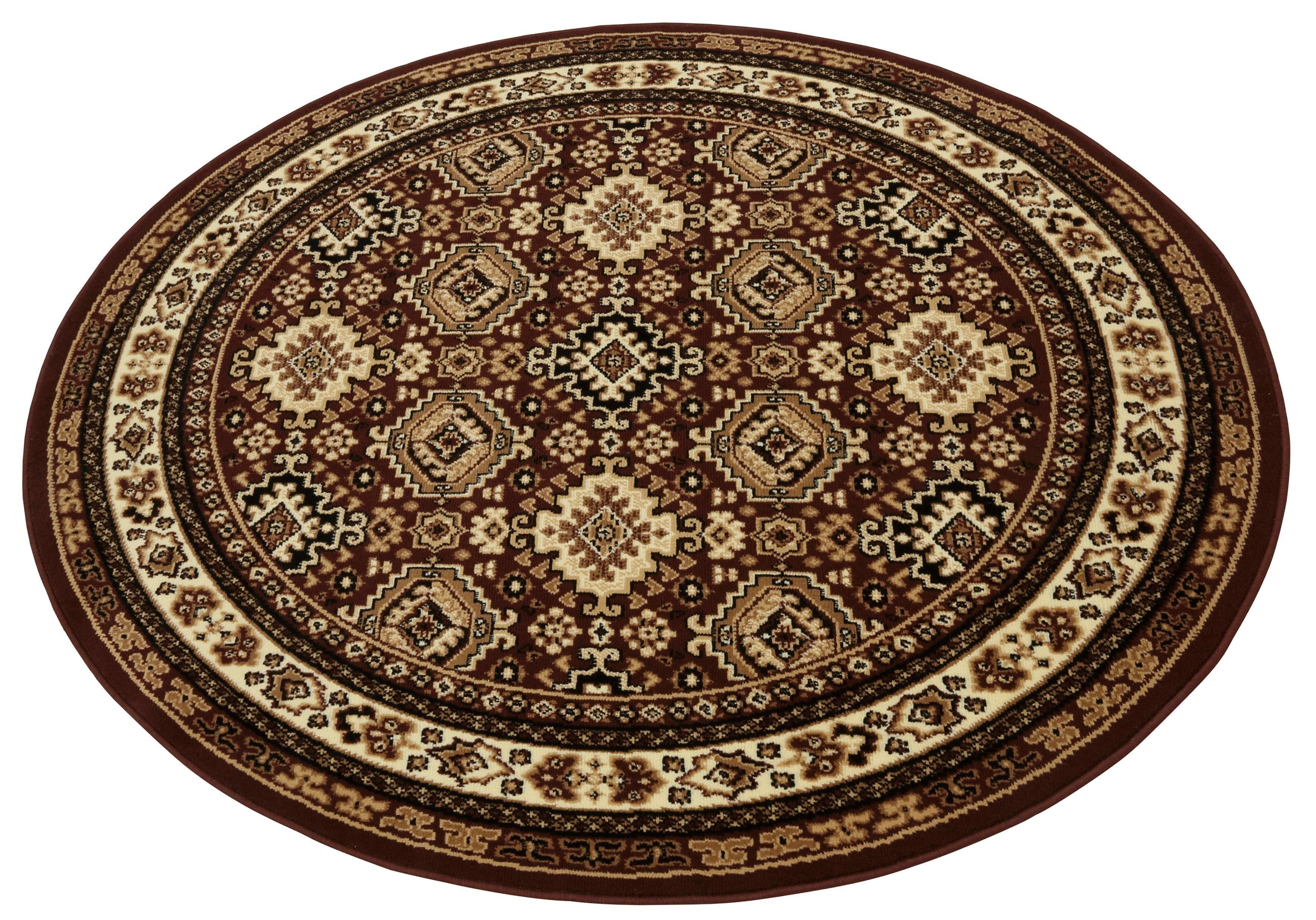 Teppich Diantha my home rund Höhe 9 mm maschinell gewebt