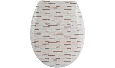 MSV WC-Sitz »BRIQUE BEIGE«, Duroplast, mit Softclose kaufen
