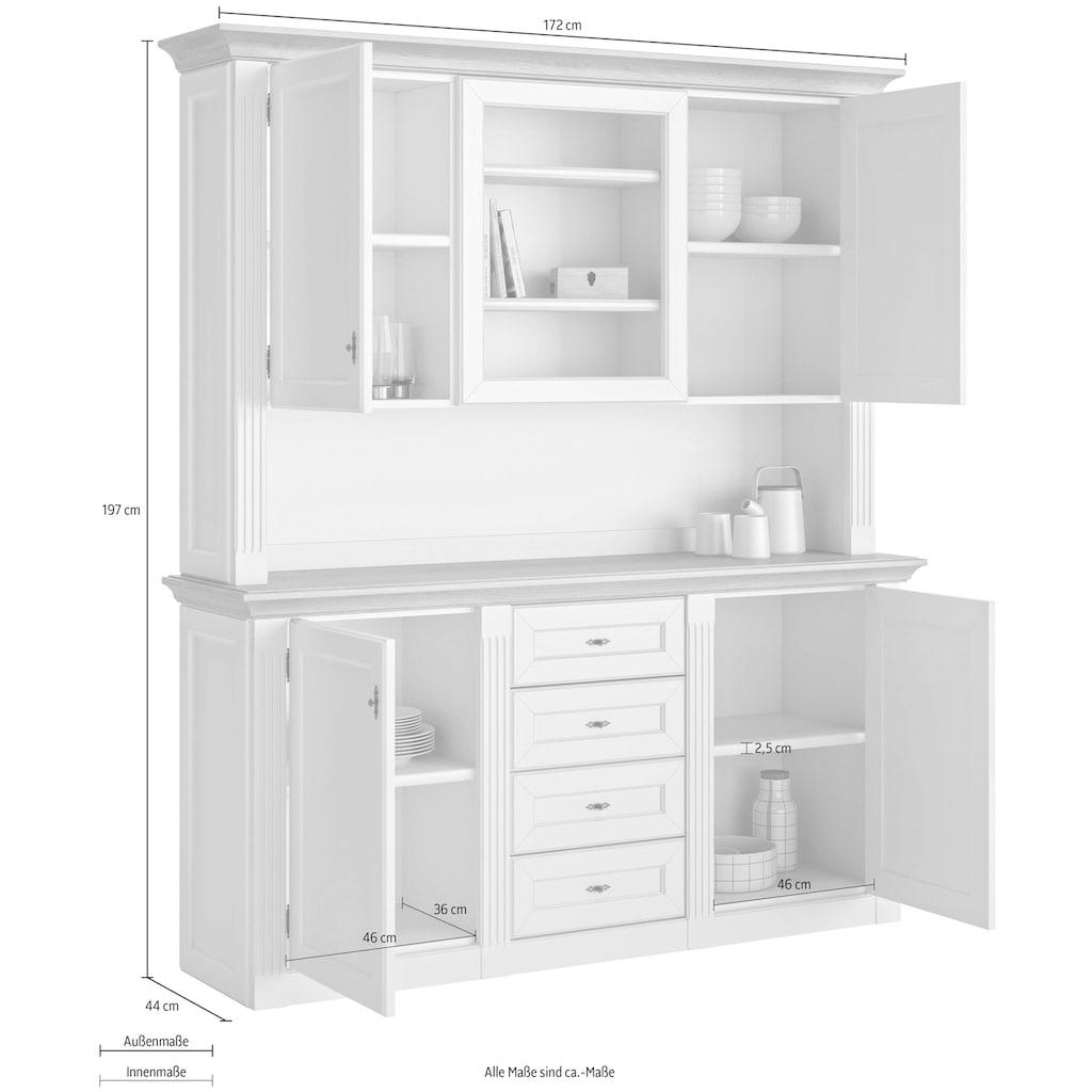 WEHRSDORFER Anrichte »Maisonette«, mit 4 Türen und 4 Schubkästen, Breite 172 cm