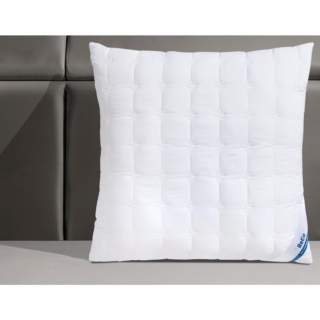 Beco Microfaserkissen »Medibett Cotton Soft«, Füllung: Faserbällchen, Bezug: Polyester & Baumwolle, (1 St.), Toller Mix aus Baumwolle und Microfaser