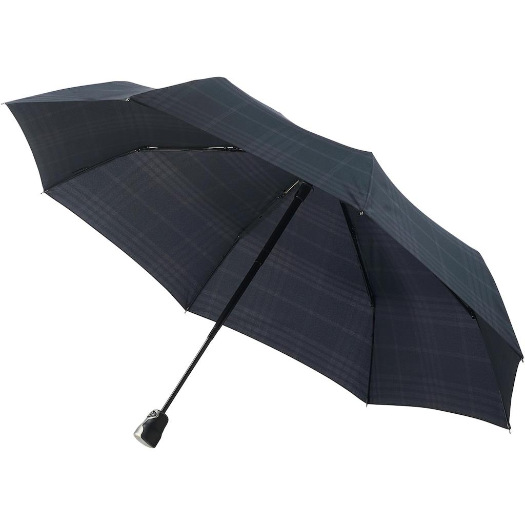 Taschenregenschirm »GRAN TURISMO, karo schwarz«