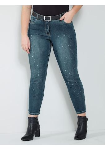 Sara Lindholm by HAPPYsize Jeans mit Strasssteinen kaufen