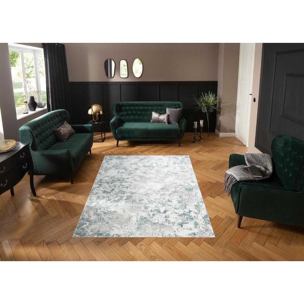 Leonique Teppich »Bertram«, rechteckig, 12 mm Höhe, mit Schrumpfgarn, Wohnzimmer