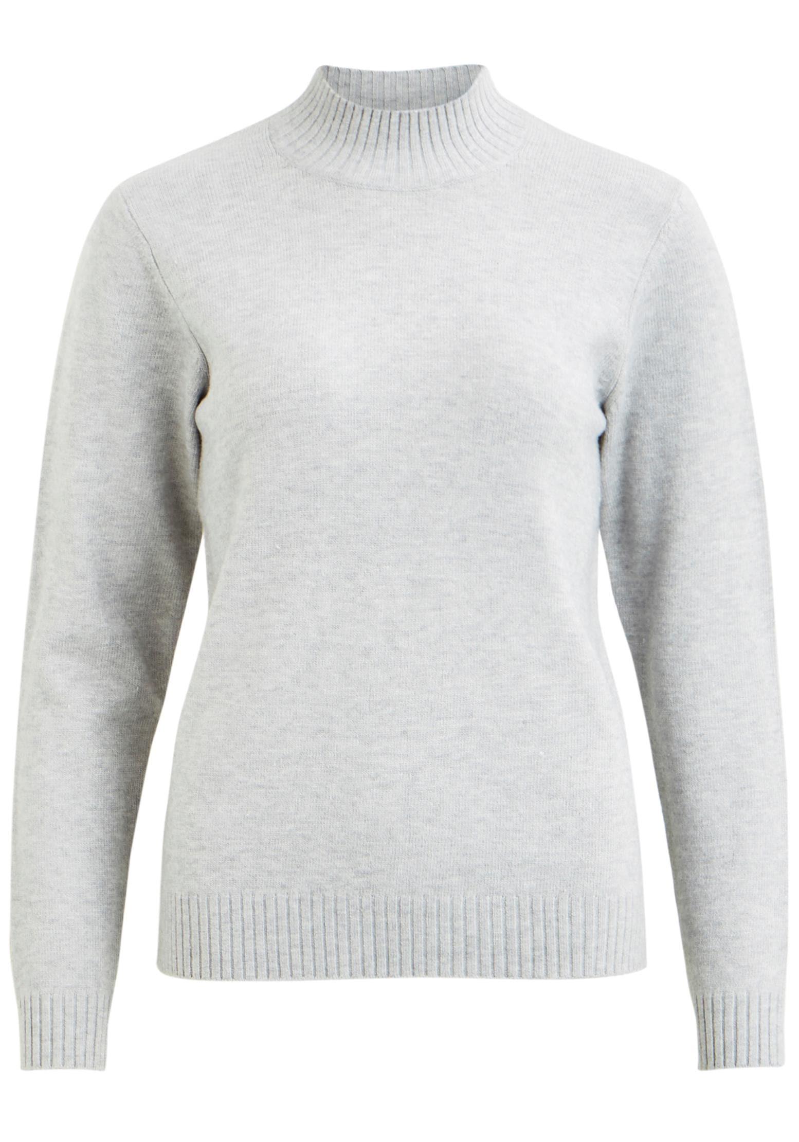 Vila Stehkragenpullover RIL | Bekleidung > Pullover > Stehkragenpullover | Grau | Vila