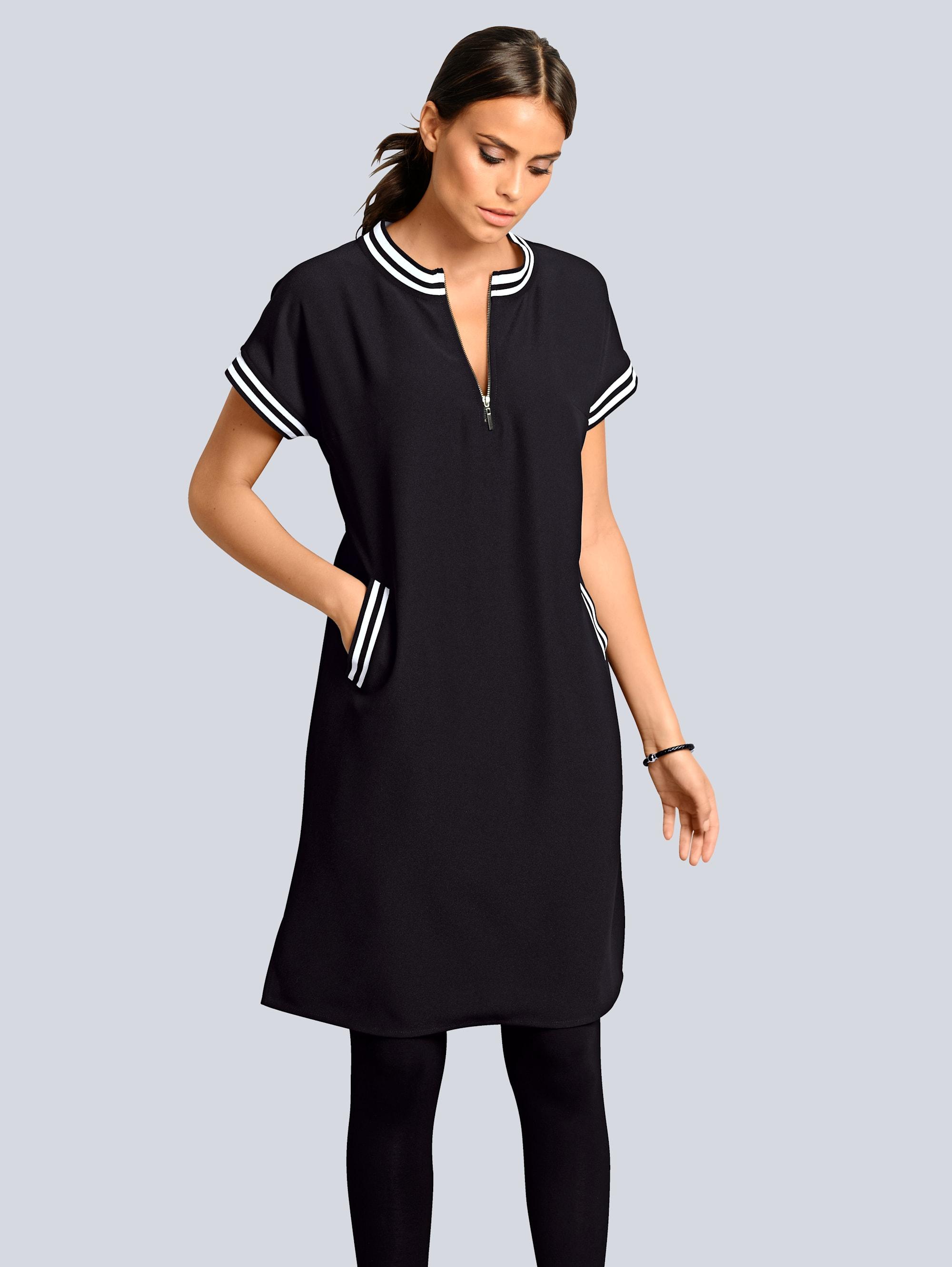Alba Moda Kleid Athleisure in sportiver Optik mit Streifendetails
