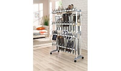 Ruco Schuhregal, Aluminium, fahrbar kaufen