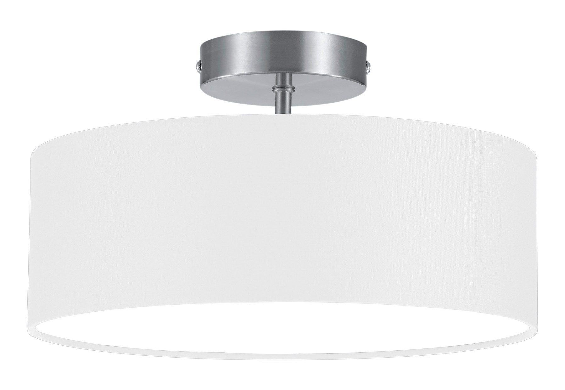 TRIO Leuchten Deckenleuchte HOTEL, E14, Deckenlampe Ø 30 cm mit Stoff-Schirm