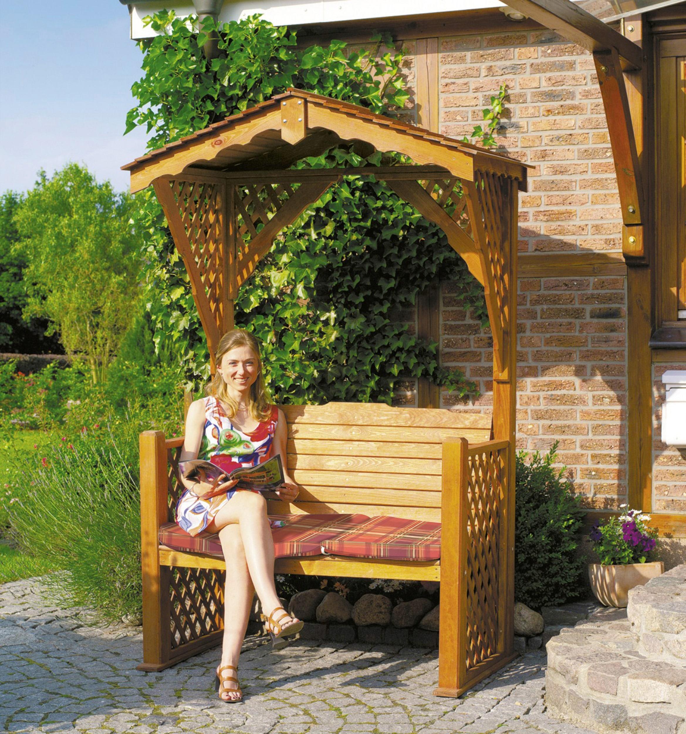 PROMADINO Gartenbank Starnberg BxTxH: 142x80x220 cm inkl Auflage