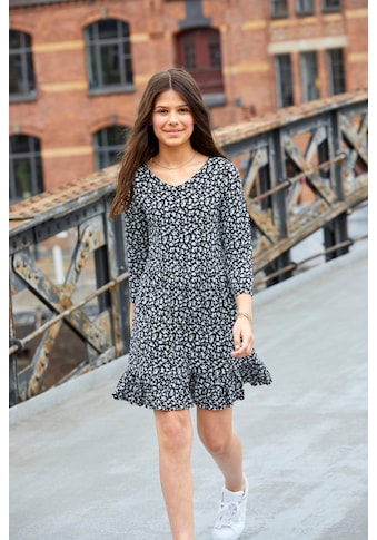 KIDSWORLD Jerseykleid, mit kleinem Volant am Saum kaufen