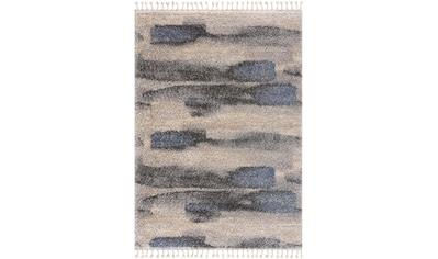 Sanat Hochflor-Teppich »Versay 1506«, rechteckig, 30 mm Höhe, Shaggy Teppich mit aufwendigen Fransen, Wohnzimmer kaufen