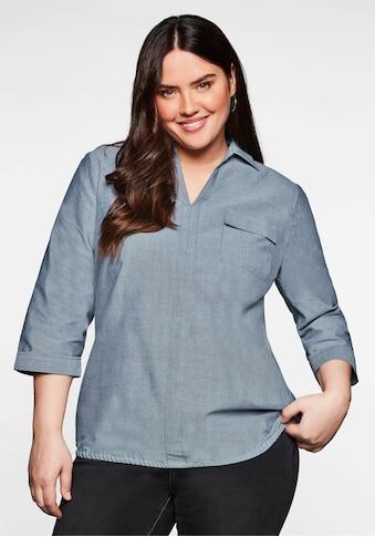 Sheego Tunika, mit Hemdkragen und elastischem Saum kaufen