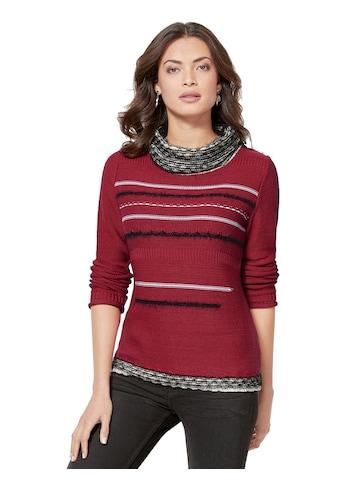 Creation L Pullover mit kontrastfarbenen Akzenten kaufen