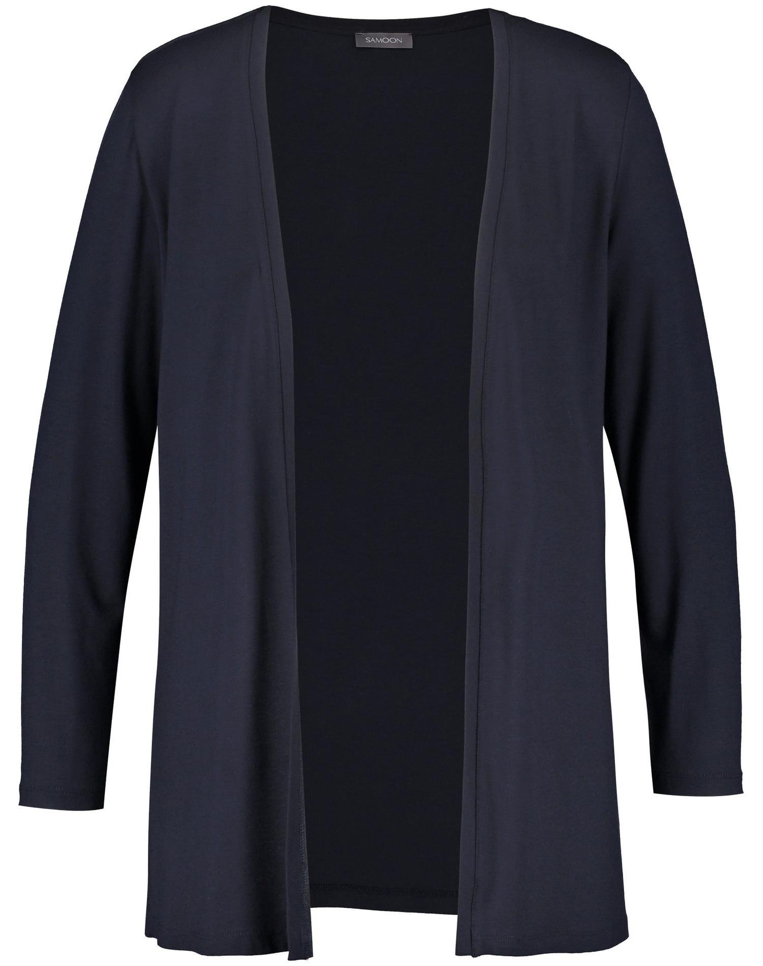 Samoon Jacke Gewirke Offene Shirtjacke Damenmode/Bekleidung/Shirts & Sweatshirts/Shirtjacken & Boleros