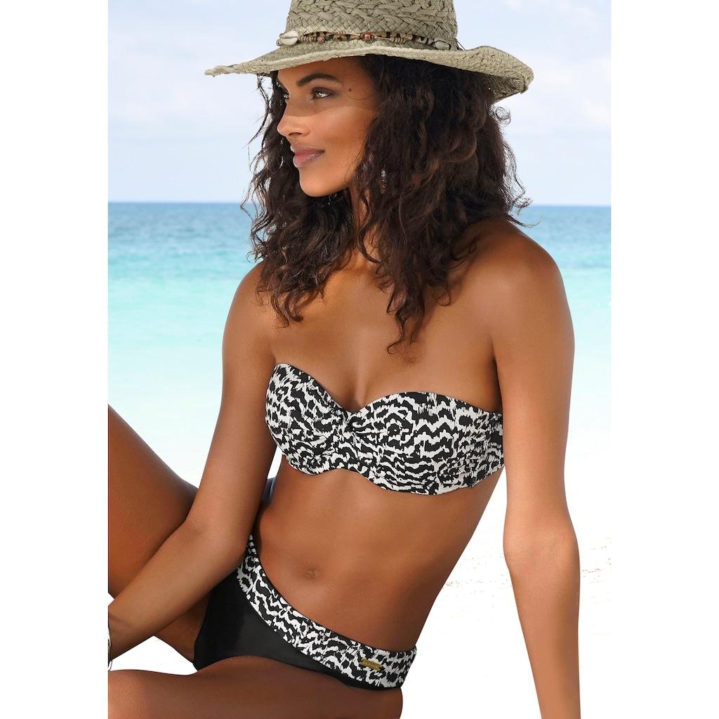 LASCANA Bügel-Bandeau-Bikini-Top »Clara«, mit Wickeloptik