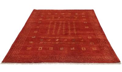 morgenland Wollteppich »Gabbeh Teppich handgeknüpft rot«, rechteckig, 18 mm Höhe,... kaufen