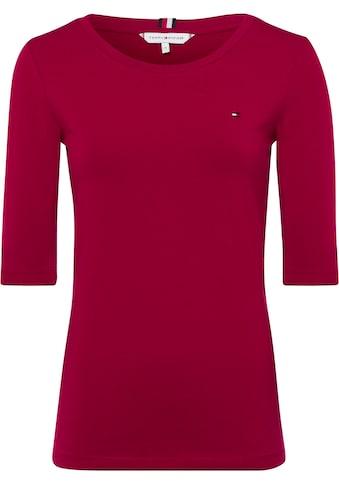 Tommy Hilfiger T-Shirt »TH ESSENTIAL C-NK 1/2 SLV«, mit Tommy Hilfiger Logo-Flag kaufen