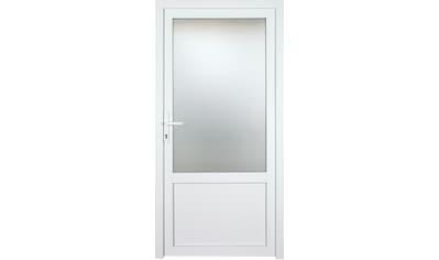 KM MEETH ZAUN GMBH Nebeneingangstür »K603P«, BxH: 98x208 cm cm, weiß, links kaufen