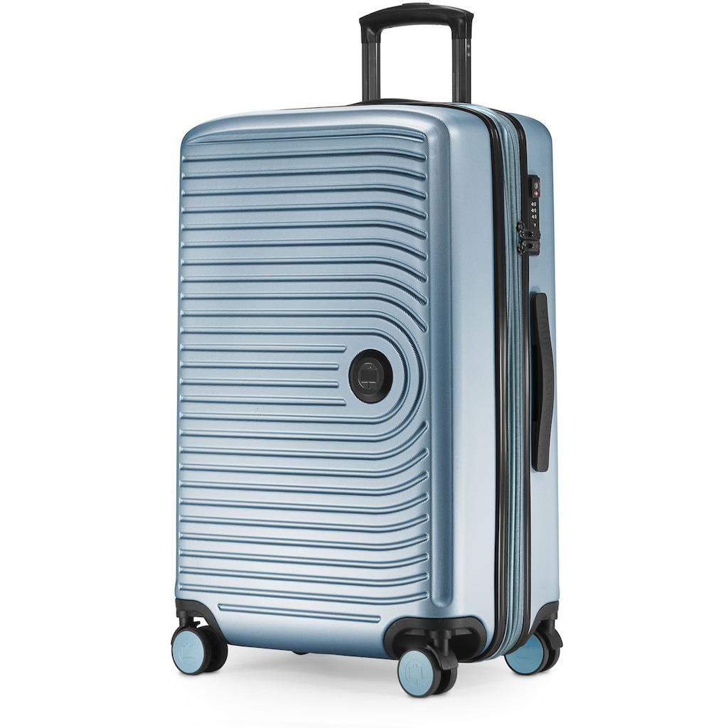 Hauptstadtkoffer Hartschalen-Trolley »Mitte, pool blue, 68 cm«, 4 Rollen
