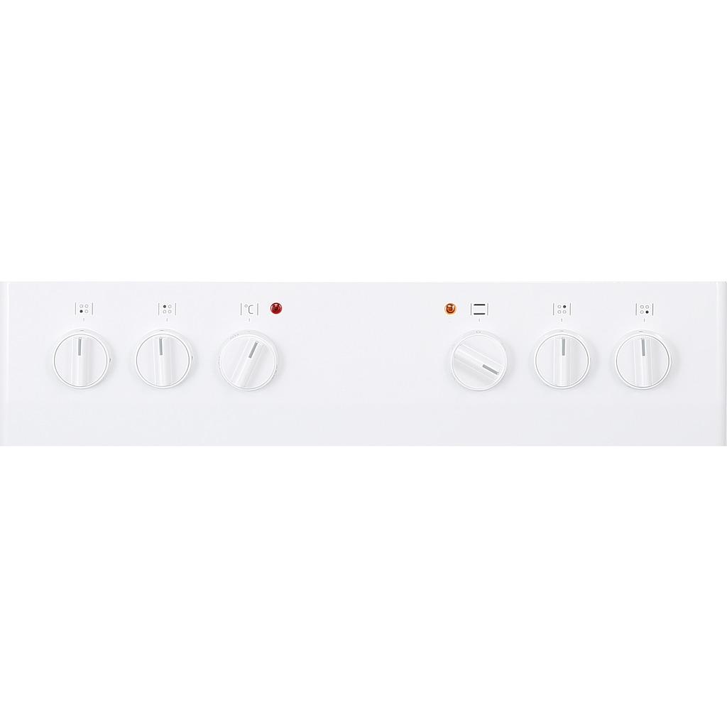 Amica Gas-Standherd »SHEG 11557 W«, SHEG 11557 W, mit Backauszug, Steam Clean, Einhand-Funkenzündung