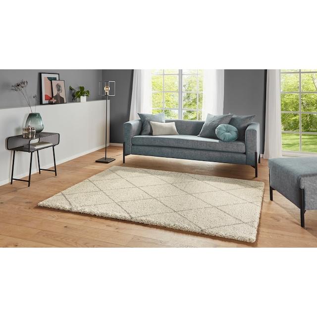 Hochflor-Teppich, »Belle«, Leonique, rechteckig, Höhe 35 mm, maschinell gewebt