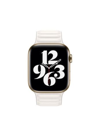 Apple Smartwatch-Armband »44 mm Lederarmband mit Endstück Kreide - S/M« kaufen