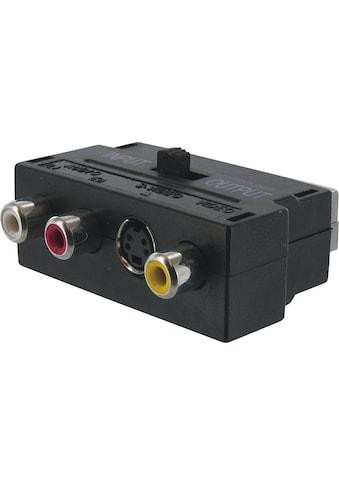 SCHWAIGER Scart Adapter, Audio Video Adapter, Cinch zu Scart »AV Konverter mit Umschalter« kaufen