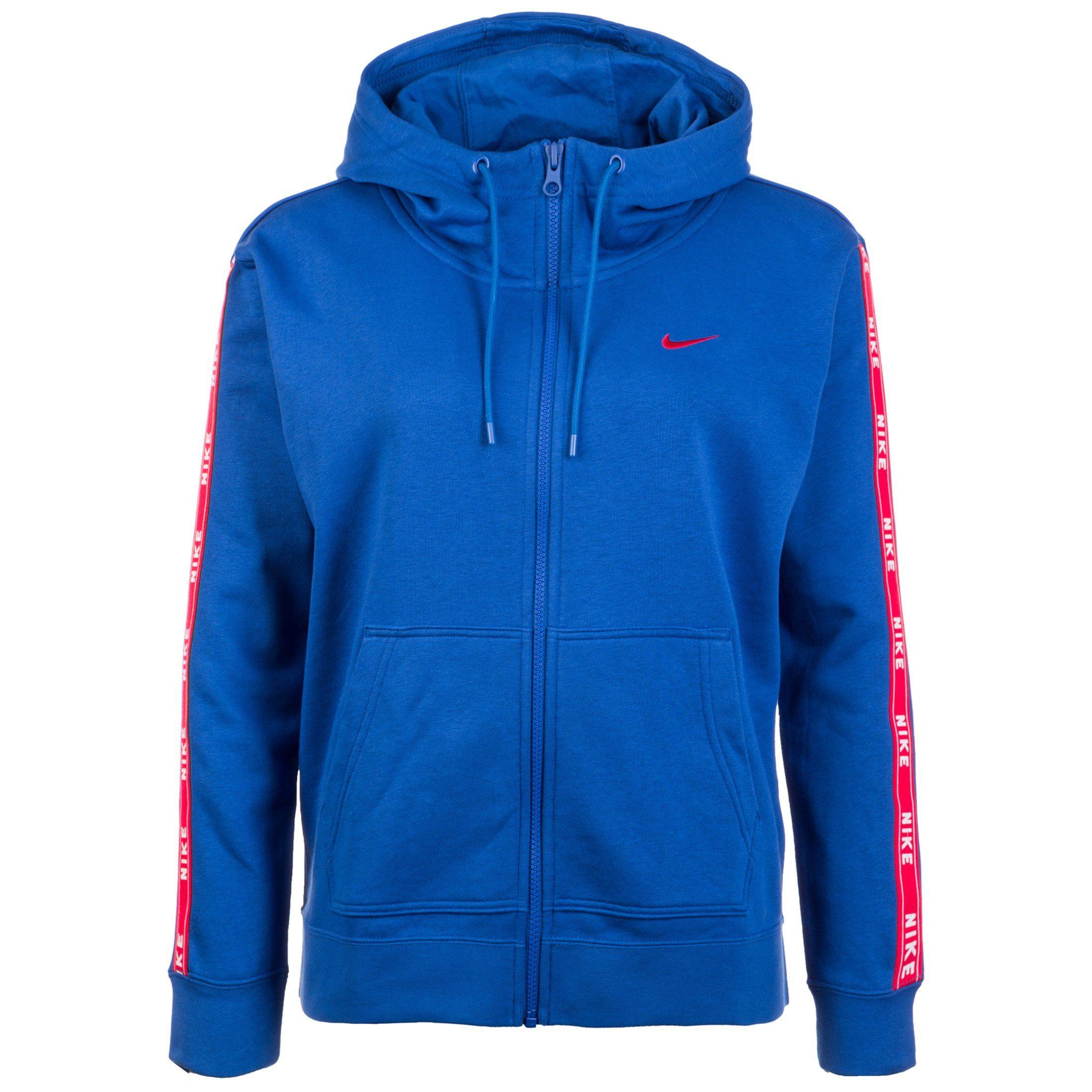 Nike Sportswear Kapuzensweatjacke Logo Tape | Sportbekleidung > Sportjacken > Sonstige Sportjacken | Blau | Nike Sportswear