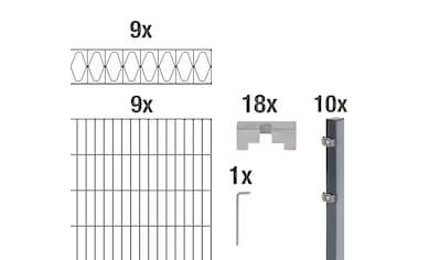 GAH Alberts Doppelstabmattenzaun »Eleganz«, anthrazit, 100 cm hoch, 9 Matten für 18 m,... kaufen