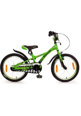 """Bachtenkirch Mountainbike »18"""" Kinderfahrrad """"KAWASAKI  -  Ninja"""", grün/schwarz«, 1 Gang kaufen"""
