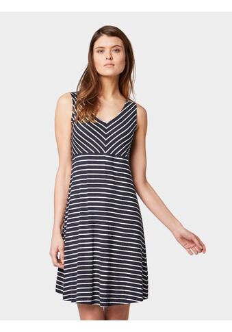 TOM TAILOR Trägerkleid »Kleid mit Streifenmuster« kaufen