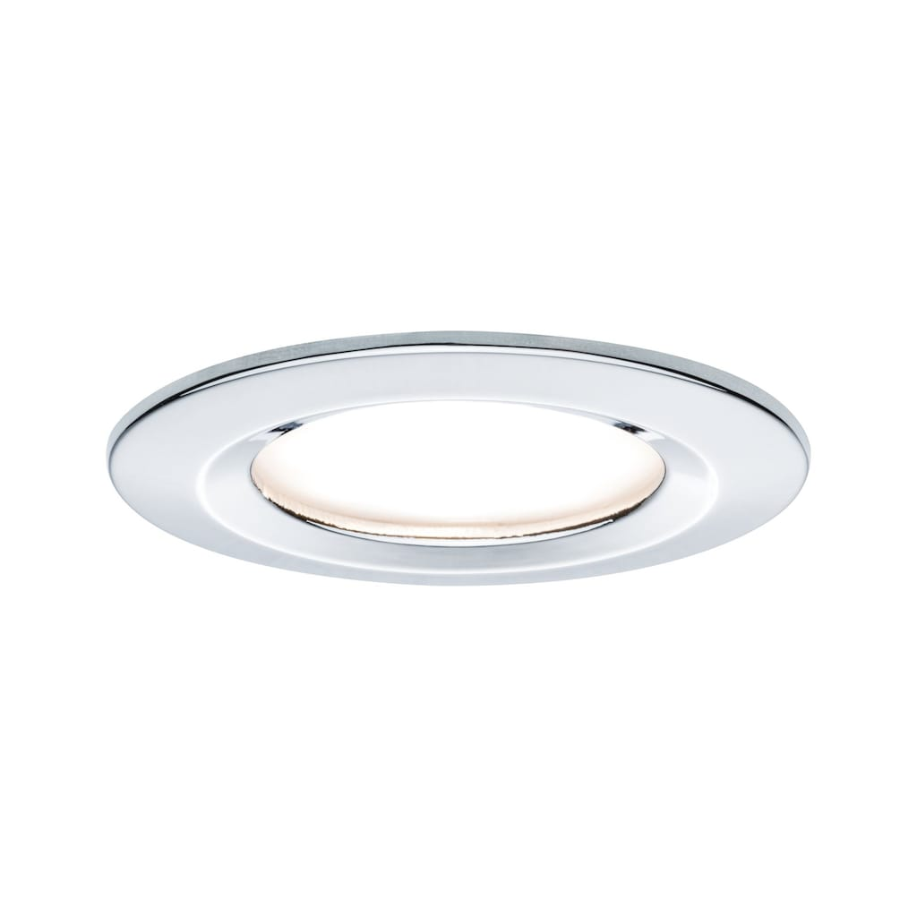 Paulmann LED Einbaustrahler »1er-Set dimmbar Coin Slim IP44 rund 6,8W Chrom«, 1 St., Warmweiß