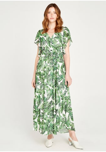 Apricot Maxikleid »Tropical Leaf Kimono Maxi Dress«, Fledermausärmel kaufen
