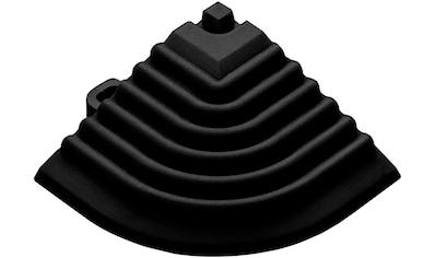 FLORCO Eckleisten Eckteil schwarz, 40 cm, 4 Stück kaufen