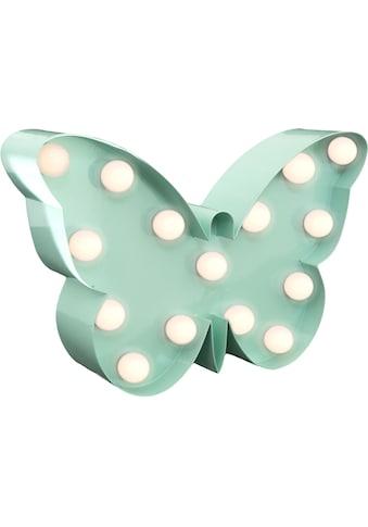 MARQUEE LIGHTS LED Dekolicht »Schmetterling«, 1 St., Warmweiß, Wandlampe, Tischlampe Butterfly mit 15 festverbauten LEDs - 23cm Breit und 15cm hoch kaufen