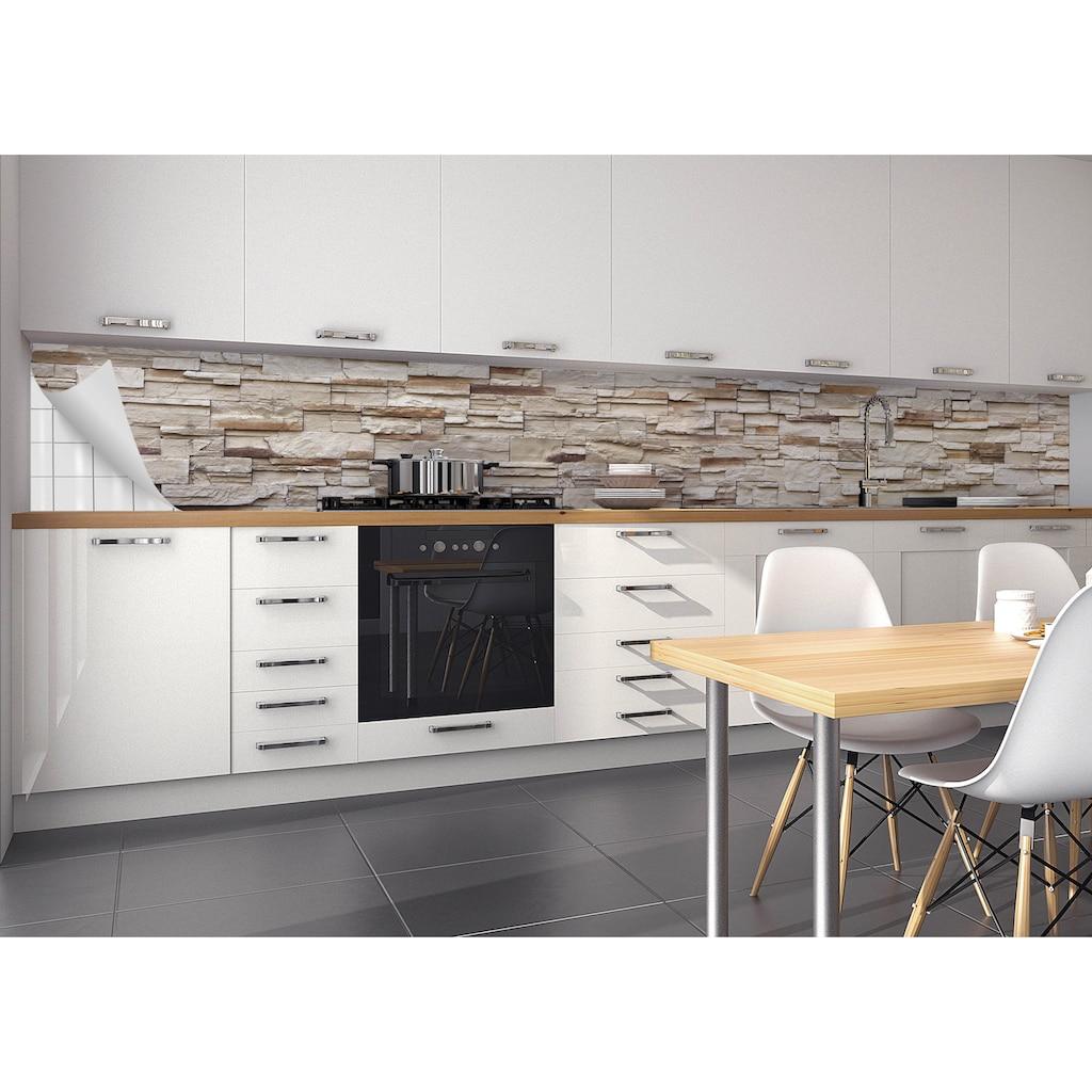 MYSPOTTI Küchenrückwand »mySPOTTI fixy F3«, selbstklebende und flexible Küchenrückwand-Folie