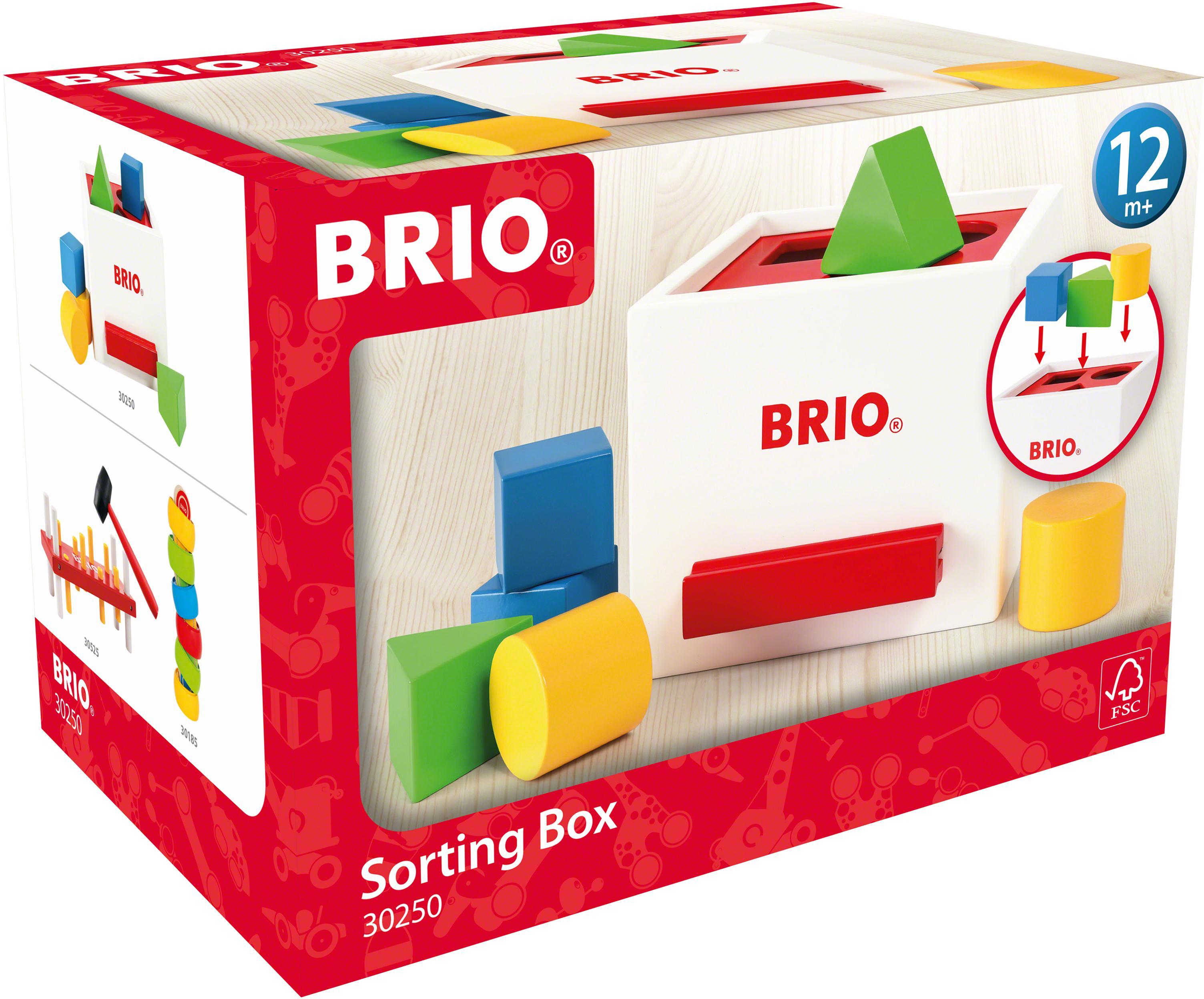 BRIO Steckspielzeug Sortierbox bunt Kinder Steck- Stapelspielzeug Baby Kleinkind